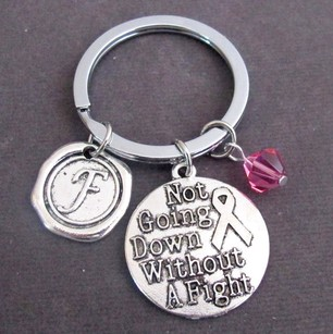 Not Going Down Without A Fight Keychain Personalized Fighter Gift