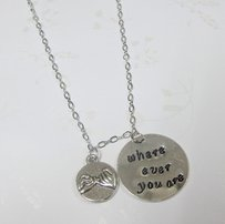 Where Ever You Are Necklace, Best Friend Necklace,bff Jewelry,pinky Pr