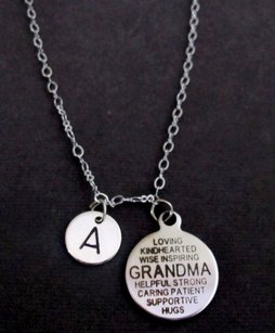 Grandma Necklace, Grandma Quote Necklace, Grandma Gift, Personalized