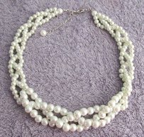 Ivory Pearl Necklace Wedding Ivory Pearl Necklace Wedding Necklace Bri