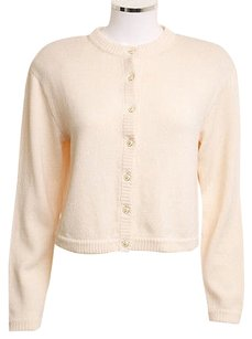 St. John St Collection Cream Wool Cardigan