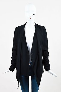 10 Crosby Derek Lam Drape Black Jacket