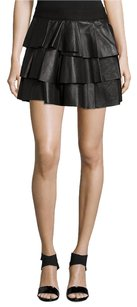 10 Crosby Derek Lam Ruffle Mini Skirt Black