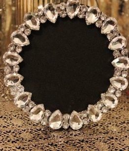 10 Crystal Bling Rhinestone Jeweled Frames For Table Numbers Or Photos
