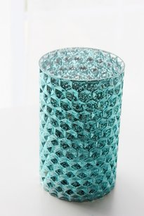 10 New Aqua Blue Tiffany Blue Mercury Glass Vases Candle Holders