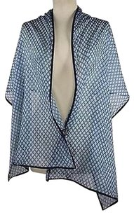 2 Chic 2chic Womens Blue Printed Scarf One 68quotx 22quot 100 Cotton