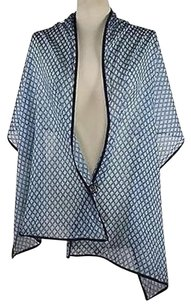 2 Chic 2chic Womens Blue Printed Scarf One 68x 22 100 Cotton