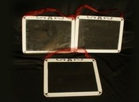 3 Small Chalk Boards For Wedding Reception