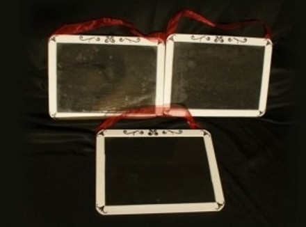 Black and White 3 Small Chalk Boards For Reception Decorations