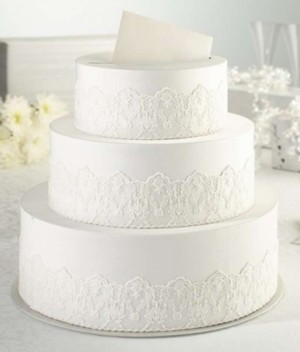 white wedding cake recipe from box white 3 tier lace cake keepsake card box tradesy 27370