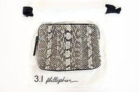 3.1 Phillip Lim 3.1 Phillip Lim Natural Snake Minute Pouch Bag Ah12-0366gsn