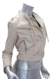 3.1 Phillip Lim Womens Leather Peacoat Coat 4s Beige Jacket