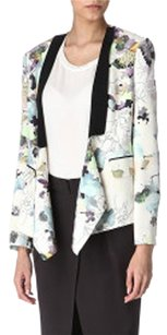 3.1 Phillip Lim Floral Print Light Jacket Ivory Blazer