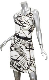 3.1 Phillip Lim for Target short dress Multi-Color Womens White Print Sleeveless Belt Above Knee on Tradesy