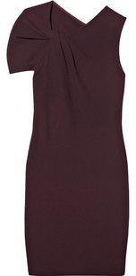 3.1 Phillip Lim short dress Burgundy Wool Crepe Fitted Sheath Flattering Unique on Tradesy