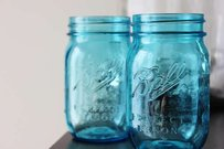 36 Aqua Blue Ball Mason Jars Jar Vases Candle Holders