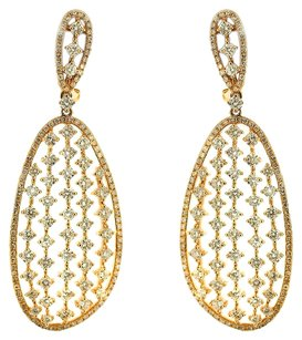 3.87ct 3.87ct Rose Gold and Diamond Dangle Earrings
