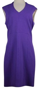 4.collective Womens Solid Sleeveless Above Knee Sheath Dress