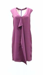 4.collective short dress Plum Crepe Flutter Front Sleeveless Shift 150605f on Tradesy