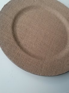 50 New Burlap Rustic Charger Plates