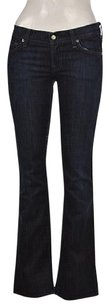 7 For All Mankind Womens Blue 25 Dark Wash Pants Trousers Boot Cut Jeans