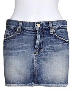 7 For All Mankind Womens Skirt Blue