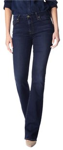 7 For All Mankind Flattering Flawless Like New Boot Cut Jeans-Dark Rinse