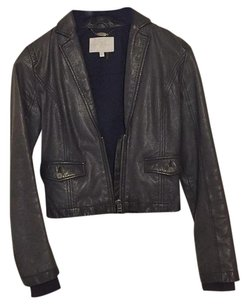7 For All Mankind Plum Leather Jacket
