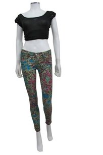 7 For All Mankind Printed Skinny Jeans