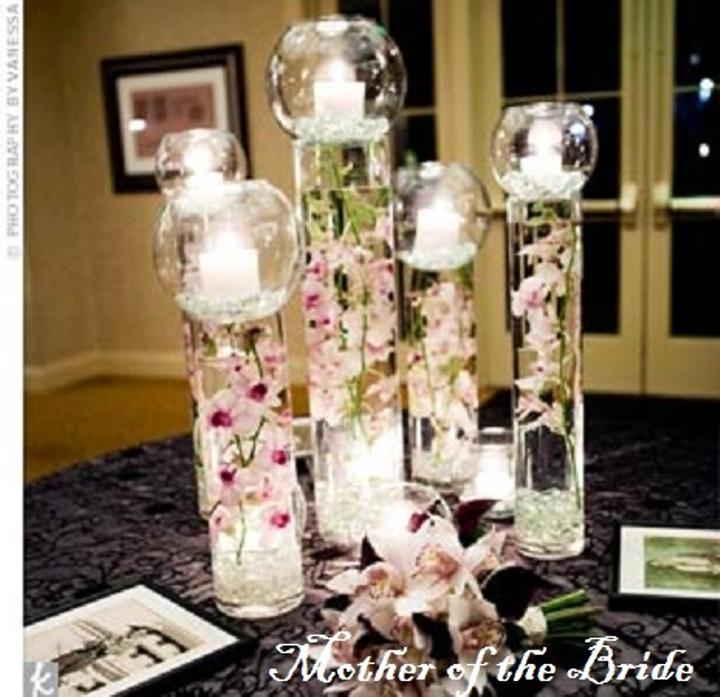 Extra tall cylinder bubble vases pc sets
