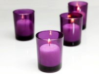 72 Purple Votive Holders Glass Candle Tea Light Holders