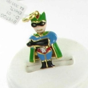 Aaron Basha Aaron Basha By6tqg Charm Super Boy Hero 0.01cts Diamond 18k Y G