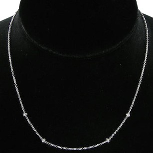 Aaron Basha Aaron Basha C108b Necklace Stations 0.16cts Diamonds 18k White Gold