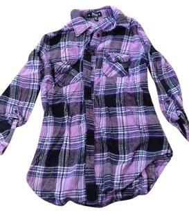 Abbey Dawn by Avril Lavigne Button Down Shirt Purple