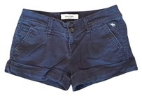 Abercrombie & Fitch Summer Short Cuffed Shorts Navy