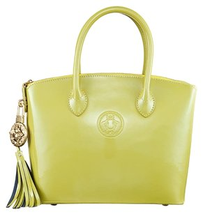Abigail Riggs Tote in Chartreuse