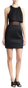 A.B.S. by Allen Schwartz Mesh Crop Top Sporty Chic Fitted Dress