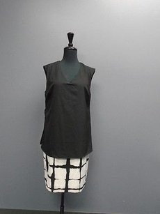 ADAM short dress Black And White Lippes For Target Grid Print Sleeveless 3414a on Tradesy