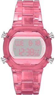 adidas Adidas Women Candy Digital Chrono Pink Clear Acrylic Watch 44mm X 40mm Adh6504