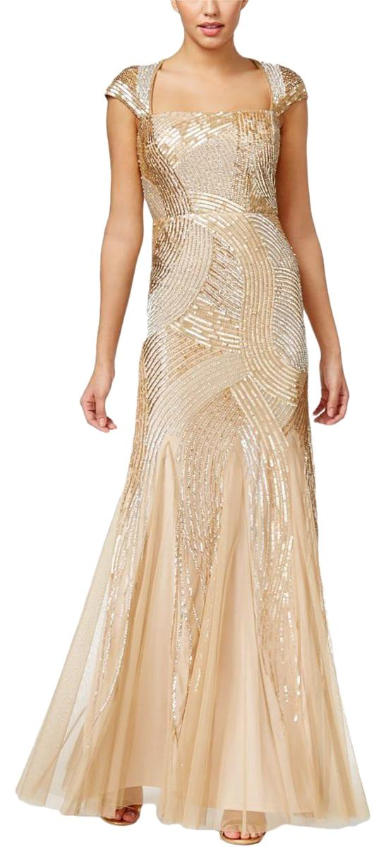Adrianna Papell Champagne Dress – Dresses for Woman