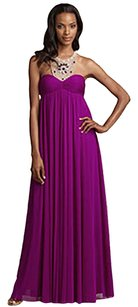 Adrianna Papell Gown Embellished Empire Waist Dress