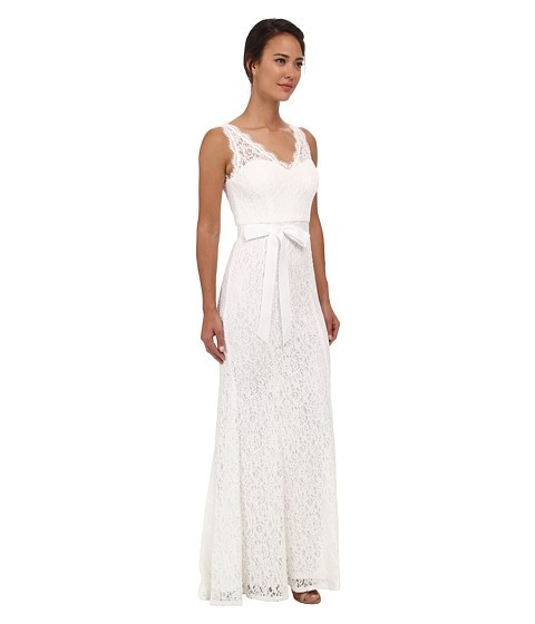 Adrianna papell lace wedding dress