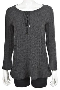 Adrienne Vittadini Womens Charcoal Sweater