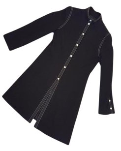 Adrienne Vittadini Wool Knit Longsleeve Winter Black Jacket