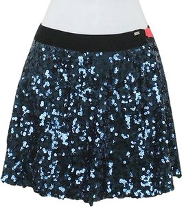 Aéropostale Aeropostale Black Navy Sequin Skirt Blue