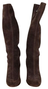 Aerosoles Womens Solid Suede Knee Brown Boots