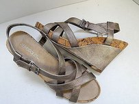 Aerosoles Strappy Cork Gold Sandals