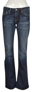 AG Adriano Goldschmied Angel Womens Blue Distressed 29r Pants Boot Cut Jeans