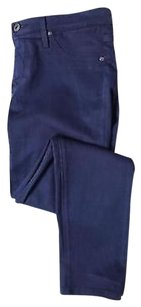 AG Adriano Goldschmied Womens Skinny Pants Navy Blue