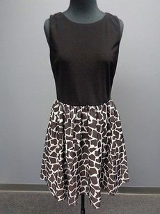 Aidan Mattox short dress Brown Black Geo on Tradesy